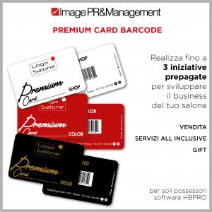 Premium card con barcode